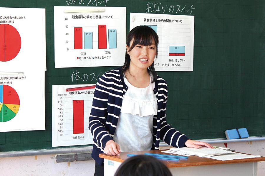管理栄養士専攻 卒業 静岡県伊豆の国市立韮山南小学校勤務
