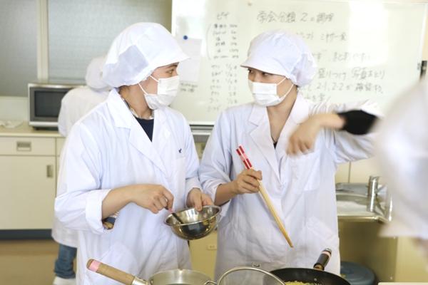 管理栄養士専攻「七夕料理」試作