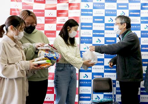 【御礼】岡崎市より一人暮らしの学生へ食糧支援をいただきました