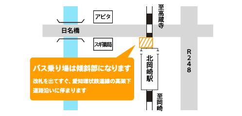 愛知環状鉄道 北岡崎駅 高架下(道路沿い)