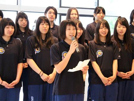 女子バスケットボールチーム 優勝祝勝会 開催