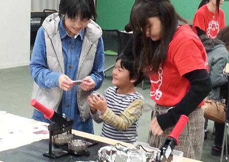 地域の子どもたちと手作り講座