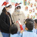 附属幼稚園の園児さんにクリスマスプレゼント♪